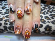fall nail, thanksgiv nail, nail arts, nail nail, smart nail, nail design, thanksgiving nails