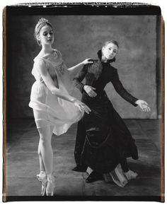 Gelsey Kirkland, right, with dancer Mary Mills Thomas of the American Ballet Theatre Studio Company, photographed by Mary Ellen Mark in New York City for Vanity Fair, June 2007