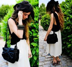 H&M Skirt, Christian Louboutin Peep Toes, 3.1 Phillip Lim Bag