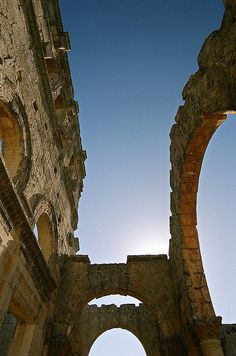 Ruins of St Simeon's basilica, near Aleppo, Syria by iancowe, via Flickr