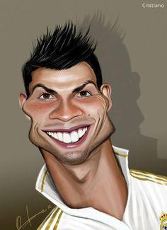 Caricatura de Cristiano Ronaldo.