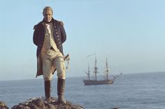 Captain Jack Aubrey (Russell Crowe) and  HMS Surprise