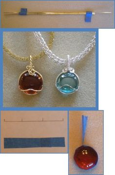 Who knew those little flat marbles could be so pretty? Wire wrapped into a pendant.