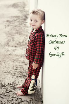 Pottery Barn Christmas PJ knockoffs - tutorial/pattern @sewinginmomansland