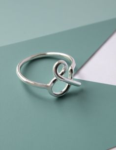 You and Me  Ampersand sterling silver ring by melaniefavreau, $50.00