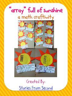 Array full of sunshine: a cute craftivity for multiplication!
