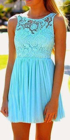 Mint Detail Front Dress
