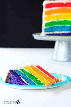 Rainbow Cake .