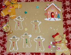 """Gingerbread Cookie Cutter and """"Splatter"""" Paintings"""