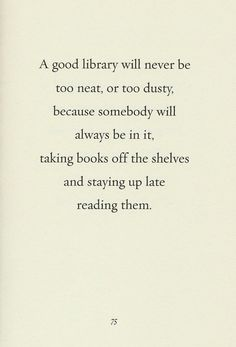 a good library