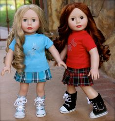 Scotty Skirt Sets that fit American Girl Dolls are available at www.harmonyclubdolls.com Harmony Club Dolls is a retailer for 18 inch permium quality dolls and 18 inch doll clothes that fits American Girl.