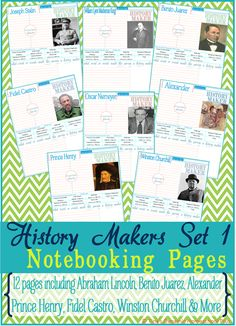 Geography Resource + Set of 12 History Makers Notebook Pages  #homeschoolgeography