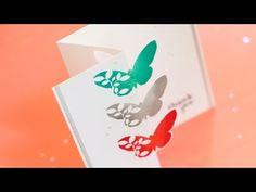 cardmaking tutorial: Partial Die Cutting & Zig Zag Fold Card ... by Jennifer McGuire ... great fold ... demos partial die cutting, zigzag fold and double inking ... luv it!!