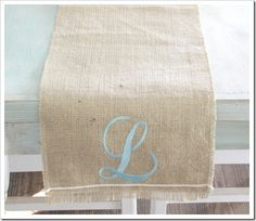 "Via The Shabby Creek Cottage - Embroidered ""L""!"