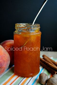 "Spiced Peach Jam | www.you-made-that.com @Suzanne, with a ""z""., with a ""z""., with a ""z"". 