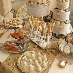 Bridal shower cookie table by Julia M. Usher