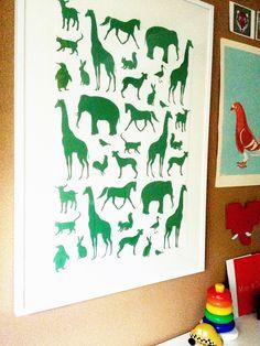Framed wallpaper for a baby's room