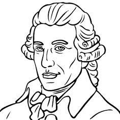 Franz Joseph Haydn Coloring Page Sketch