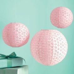 Martha Stewart Vintage Girl Pink Eyelet Lantern