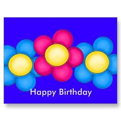 Happy, Birthday Post Card