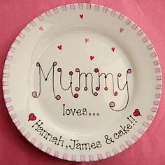 Mother's Day Gift Plate