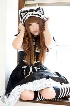 a gothic Lolita #goth #Lolita