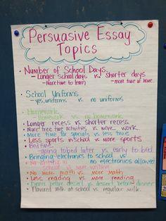 writing a persuasive essay 6th grade