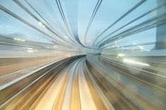 Long exposure from a Japanese subway car.
