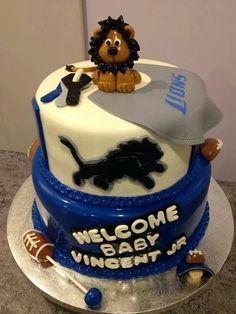 detroit lions diaper cake