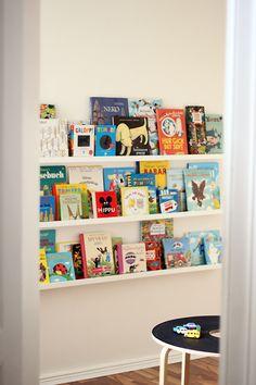 kid books, book displays, bedroom office, library shelves, kid rooms, wall shelves, kids library, children books, nook books