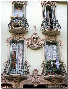 beautiful balconies...Barcelona, Spain