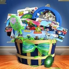 Toys Story Easter Gift Baskets for Kids basket idea, toy stori, gift basketsidea, stori basket, easter gift, kids toys
