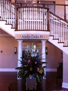 Entrance Foyer at the new ADPi house at UT.