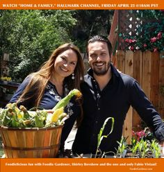 BEHIND THE SCENES: Here I am with the fabulous, Fabio Viviani in the garden!  FoodieGardener.com