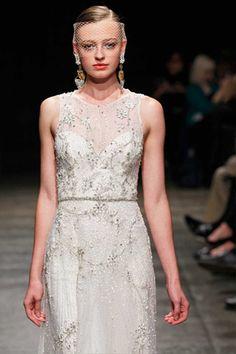 high neck #Lazaro dress