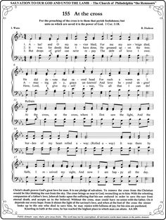 Old Hymn my family sang many times in Church...    Still love it, At The Cross