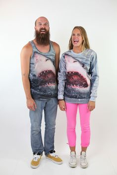 Shark Sweatshirt and Tank by Beloved Shirts. Rawr.
