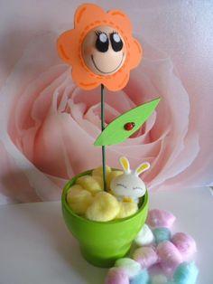 Flor de goma eva - Foami flower