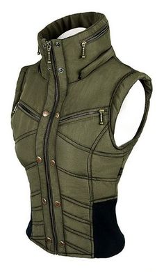 Womens Puma Vest -  Army Green