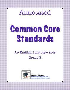 Common Core Standards for ELA Grade 3