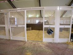 Spear-Cross Farm | GH2 Gralla Equine Architects. Lots of ventilation in these horse stalls from Lucas Equine.