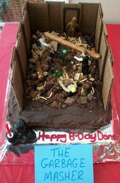 Star Wars Garbage Masher Cake from Jill of Kitchen Fun With My Three sons #StarWars