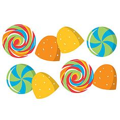 Our #SugarBuzz Confetti is a variety of colorful candies in shapes of gumdrops and more.