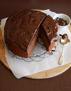 Peanut butter and chocolate cake