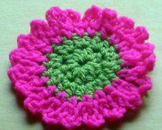 flower pattern I could see this as a sunflower with beads sewn to the middle...5 free flower patterns!