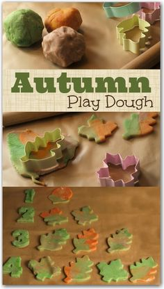 Learn to count with play dough Autumn leaves. A great way to practice counting and have lots of fun. (via Found on herecomethegirlsblog.com)