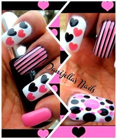 so happy - Nail Art Gallery art galleri, toe, valentine day, pink heart, fun nail, nail arts, valentine nails, valentin nail