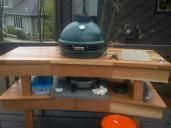 My new redwood EGG table - Big Green Egg - EGGhead Forum - The Ultimate Cooking Experience...