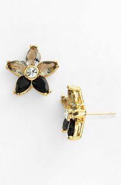 Grey and black crystal earrings   Kate Spade 'ombré bouquet' crystal stud earrings