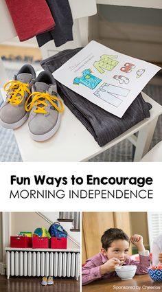3 Tips for Fostering Morning Independence + Connect with Your Kids *great ideas and printables
